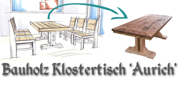 Bauholz Design Möbel - Möbel aus Gerüstbohlen - Unterwasserholz