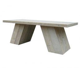 Bauholz Tisch 'Kessel'
